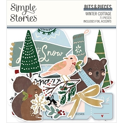 Simple Stories - Winter Cottage collection Ephemera Bits & Pieces Die-Cuts