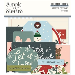 Simple Stories - Winter Cottage collection Journal Bits & Pieces Die-Cuts
