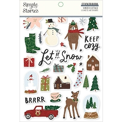 Simple Stories - Winter Cottage collection Sticker Book