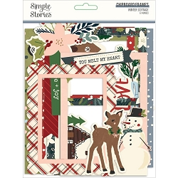 Simple Stories - Winter Cottage collection Chipboard Frames