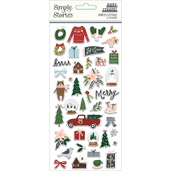 Simple Stories - Winter Cottage collection Puffy Stickers