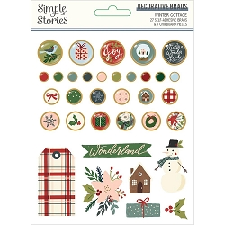 Simple Stories - Winter Cottage collection Decorative Brads