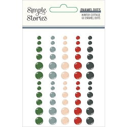Simple Stories - Winter Cottage collection Enamel Dots