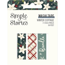 Simple Stories - Winter Cottage collection Washi Tapes (3 rolls)