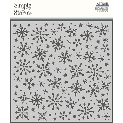 Simple Stories - Winter Cottage collection Snowflakes Stencil (6x6)
