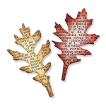 Sizzix - Movers & Shapers Die by Tim Holtz - Mini Tattered Leaves