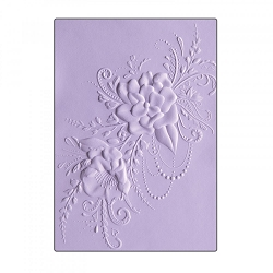Sizzix - 3-D Textured Impressions Embossing Folder by Courtney Chilson - 3D Flower Heart Doodle :)
