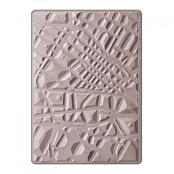 Sizzix - 3-D Textured Impressions Embossing Folder by Lynda Kanase - 3D Map