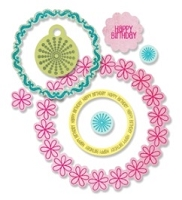 Sizzix Framelits Dies with Clear Stamps - by Stephanie Barnard - Circles & Tags