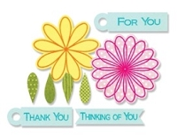 Sizzix Framelits Dies with Clear Stamps - by Stephanie Barnard - Flowers & Tags