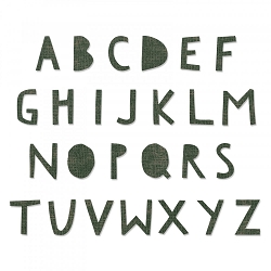 Sizzix - Bigz XL Die by Tim Holtz - Cutout Upper Alphabet