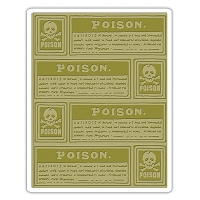 Sizzix - Texture Fades Embossing Folder by Tim Holtz - Poison Labels