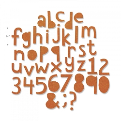 Sizzix - Thinlits Die by Tim Holtz - Alphanumeric Cutout Lower Case