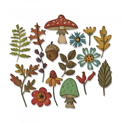 Sizzix - Thinlits Die by Tim Holtz - Funky Foliage