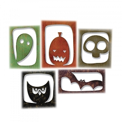 Sizzix - Thinlits Die by Tim Holtz - Halloween Hangouts