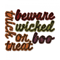Sizzix - Thinlits Die by Tim Holtz - Shadow Script Halloween