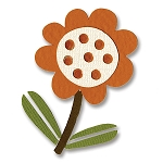 Sizzix-Sizzlits Small by Basic Grey-Figgy Pudding Flower & Leaf #4