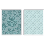 Sizzix-Textured Impressions by Basic Grey-Flowers & Snowflakes