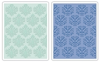 Sizzix - Textured Impressions - Embossing Folders - 2/Pkg - Classical Beauty & Baroque Wallpaper Set