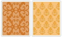 Sizzix - Textured Impressions - Embossing Folders - 2/Pkg - Luxurious Set