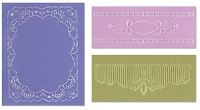 Sizzix - Textured Impressions - Embossing Folders - 3/Pkg - Over Lace Set
