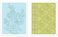Sizzix - Textured Impressions - Embossing Folders - 2/Pkg - Beatnik Bouquet Set