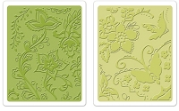 Sizzix - Textured Impressions - Embossing Folders - 2/Pkg - Far Out Florals Set :)