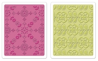 Sizzix - Textured Impressions - Embossing Folders - 2/Pkg - Kaleidoscope Blooms Set