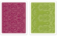 Sizzix - Textured Impressions Embossing Folders 2/Pkg - Moroccan Daydreams Set