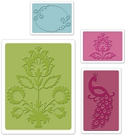 Sizzix - Textured Impressions Embossing Folders 2/Pkg - Peacock Set
