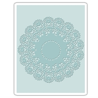 Sizzix - Texture Fades Embossing Folder by Tim Holtz - Doily