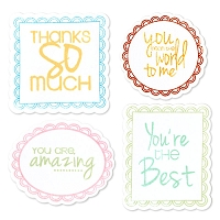 Sizzix - Framelits Die Set - by Stephanie Barnard - 9 Pack - w/ Stamps - Word Labels