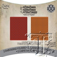 Sizzix Texture Fades Embossing Folder by Tim Holtz - 2 Pack - Courtyard & Trellis Set