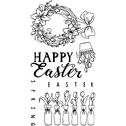 Sizzix - Clear Stamps by Katelyn Lizardi - Happy Easter