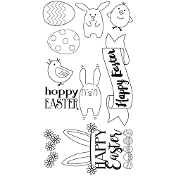 Sizzix - Clear Stamps by Lynda Kanase - Hoppy Easter