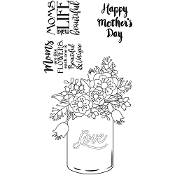 Sizzix - Clear Stamps by Lynda Kanase - Mother's Day