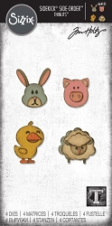 Sizzix - Sidekick Side Order Thinlits by Tim Holtz - Critters :)