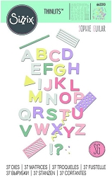 Sizzix - Thinlits Die Set - Pop Art Uppercase by Sophie Guilar :)