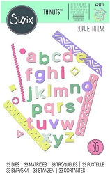 Sizzix - Thinlits Die Set - Pop Art Lowercase by Sophie Guilar :)