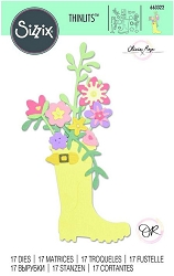 Sizzix - Thinlits Die Set - Rain Boot Planter by Olivia Rose :)