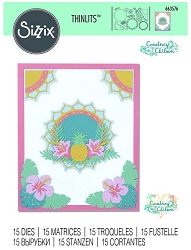 Sizzix - Thinlits Die Set - Tropical Elements by Courtney Chilson :)