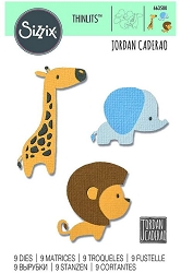 Sizzix - Thinlits Die Set - Baby Jungle Animals by Jordan Caderao :)