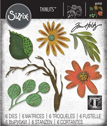 Sizzix - Thinlits Die Set by Tim Holtz - Large Funky Floral