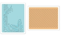 Sizzix - Textured Impressions Embossing Folders 2 Pk - Butterfly Lattice Set by Rachael Bright :)