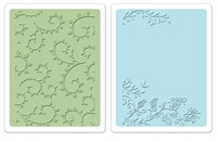 Sizzix - Textured Impressions Embossing Folders 2 Pk - Garden Set by Rachael Bright :)