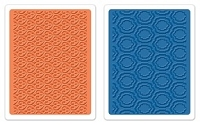 Sizzix - Textured Impressions Embossing Folders - 2 Pack - by Dena Designs - Palace Set