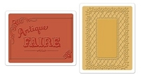 Sizzix - Textured Impressions Embossing Folders - 2 Pack - by Jen Long-Philipsen - Antique Faire & Lace Set
