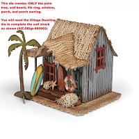 Sizzix - Bigz Die by Tim Holtz - Village Surf Shack (requires Village Dwelling die)