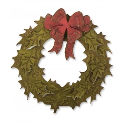 Sizzix - Bigz Die by Tim Holtz - Layered Holiday Wreath (with embossing folder)
