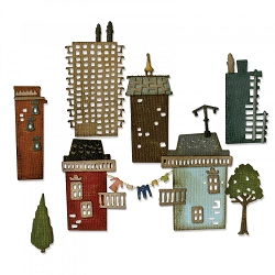 Sizzix - Thinlits Die Set by Tim Holtz - Cityscape Suburbia